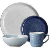 Product photograph showing Denby Studio Blue 16 Piece Dinner Set