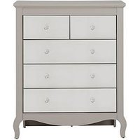 Product photograph showing Sandy Mirror 3 2 Drawer Chest
