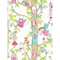 Product photograph showing Arthouse Woodland Fairies White Wallpaper