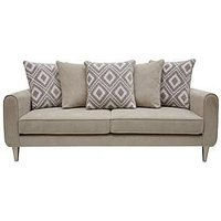 Product photograph showing Mylo Fabric 3 Seater Scatter Back Sofa