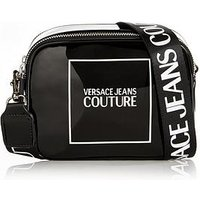 Versace Jeans Couture Patent Logo Cross-Body Camera Bag - Bl