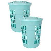 Wham Deluxe Round Laundry Hampers - Set Of 2