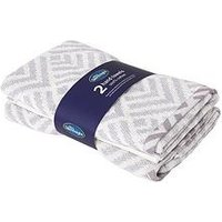 Product photograph showing Silentnight Geo 2 Pack Hand Towels