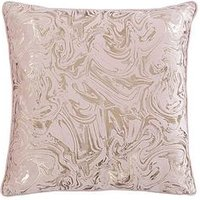 Product photograph showing Alexis Marble Foil And Velvet Cushion