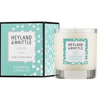 Product photograph showing Heyland Whittle Home Candle - Clementine Amp Prosecco