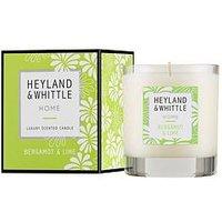 Product photograph showing Heyland Whittle Home Candle - Bergamot Amp Lime