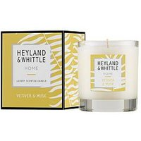 Product photograph showing Heyland Whittle Home Candle - Vetiver Amp Musk