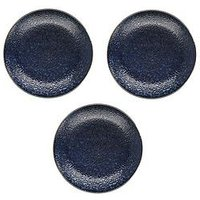 Product photograph showing Kitchencraft Mikasa Satori Living Gold Indigo Blue Dinner Plates Ndash Set Of 3