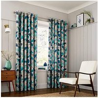 Product photograph showing Clarissa Hulse Ginkgo Lined Curtains 90x90
