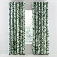 Product photograph showing Clarissa Hulse Costa Rica Fern Eyelet Curtains