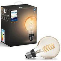 Product photograph showing Philips Hue White Filament Single Smart Led Globe E27 With Bluetooth