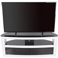 Product photograph showing Avf Burghley 1250 Tv Unit - White Gloss - Fits Up To 65 Inch Tv