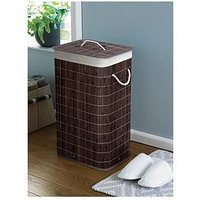 Bamboo Dark Brown Laundry Basket