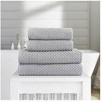 Product photograph showing Deyongs Cassablanca Textured Hand Towel