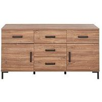 Product photograph showing Houston 2 Door 5 Drawer Sideboard