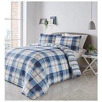 Product photograph showing Fusion Balmoral Duvet Cover Set - Blue