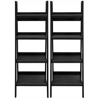 Product photograph showing Set Of 2 Lawrence Ladder Bookcases