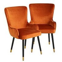 Product photograph showing Pair Of Cooper Velvet Dining Chairs