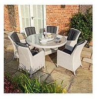 Product photograph showing Rowlinson Prestbury 6 Seater Dining Set