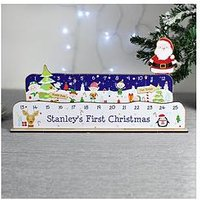 Product photograph showing Personalised Christmas Advent Countdown Decoration