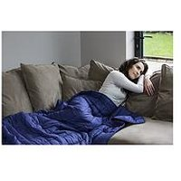 Product photograph showing Rest Easy Sleep Better Weighted Blanket In Blue Ndash 5 Kg