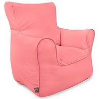 Product photograph showing Rucomfy Kids Armchair Beanbag - Pink