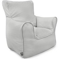 Product photograph showing Rucomfy Kids Armchair Beanbag - Grey