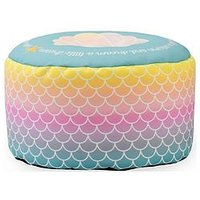 Product photograph showing Rucomfy Mermaid Ombre Kids Footstool