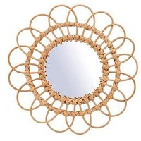 Product photograph showing Sass Belle Rattan Mirror