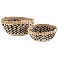 Product photograph showing Sass Belle Set 2 Seagrass Decorative Bowls