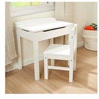 Product photograph showing Melissa Doug Wooden Lift Top Desk Chair White