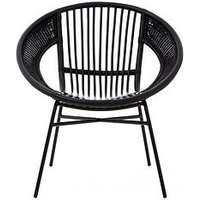 Product photograph showing Premier Housewares Lagom Black Rattan Chair