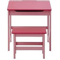 Product photograph showing Premier Housewares Kids Desk And Stool Set- Pink