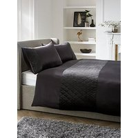 Product photograph showing Bailey Pinsonic Duvet Cover - Charcoal