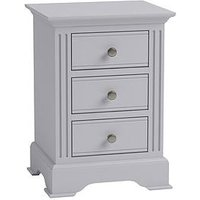 Product photograph showing K-interiors Sherwood 3 Drawer Bedside Chest