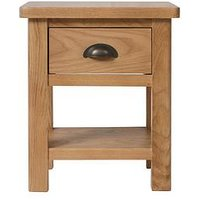Product photograph showing K-interiors Shelton 1 Drawer Lamp Table