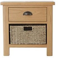 Product photograph showing K-interiors Shelton Ready Assembled 1 Drawer 1 Basket Sideboard