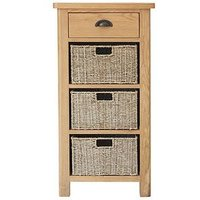 Product photograph showing K-interiors Shelton 1 Drawer 3 Basket Sideboard
