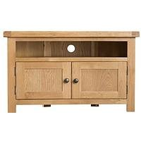 Product photograph showing K-interiors Alana Corner Ready Assembled Tv Unit - Fits Up To 46 Inch Tv