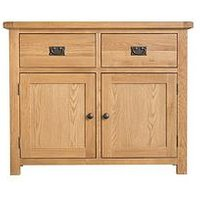 Product photograph showing K-interiors Alana Ready Assembled 2 Door 2 Drawer Sideboard