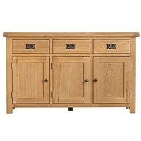 Product photograph showing K-interiors Alana Ready Assembled 3 Door 3 Drawer Sideboard