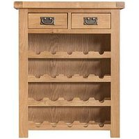 Product photograph showing K-interiors Alana Ready Assembled Wine Cabinet