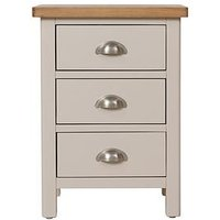 Product photograph showing K-interiors Fontana Ready Assembled 3 Drawer Bedside Chest