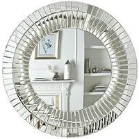 Product photograph showing Macy Round Wall Mirror