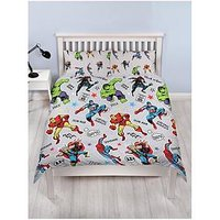 Product photograph showing Marvel Comics Comics Double Duvet Cover Set