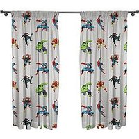 Product photograph showing Marvel Comics Comics Pleated Curtains