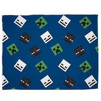 Product photograph showing Minecraft Creeps Fleece Blanket
