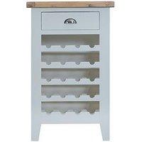 Product photograph showing K-interiors Harrow Ready Assembled Wine Cabinet - Grey Oak