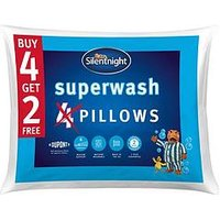 Product photograph showing Silentnight Superwash Pillows Ndash Buy 4 Get 2 Free