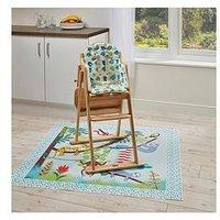 Product photograph showing East Coast Tropical Friends Highchair Insert Amp Splash Mat
